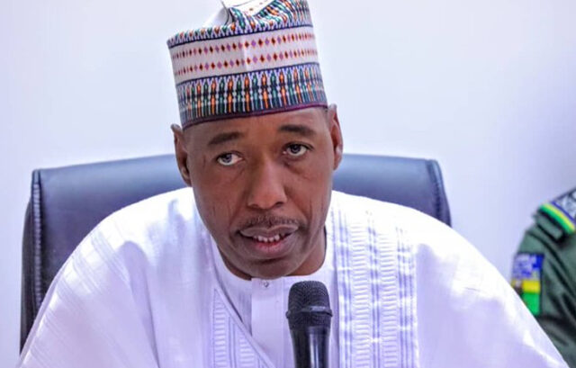 Zulum Airlifts N65 Million Materials For 8000 IDPs Near Cameroon