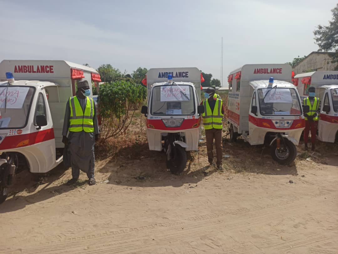 An NGO on Friday handed over life-saving drugs, medical consumables and tricycle ambulances to Borno state government.